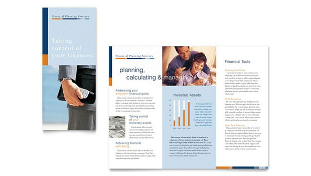 8 Free and Platinum Financial Service Brochure Templates _ ...