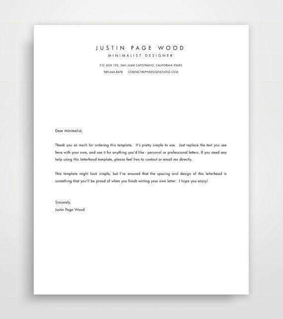 Printable Stationary Business Letterhead Stationary