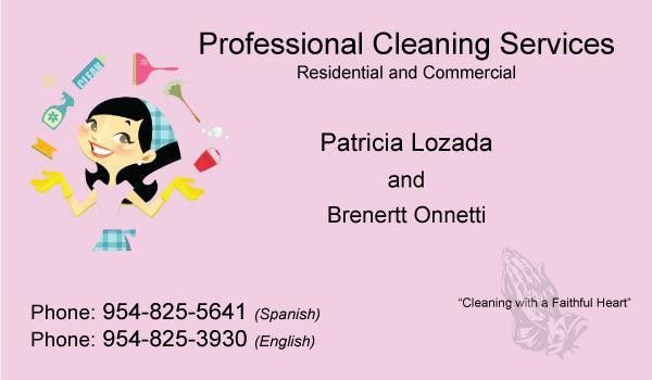 7 Best Images of Cleaning Services Business Cards - House Cleaning ...