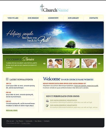 Christian Website Templates | Template Design