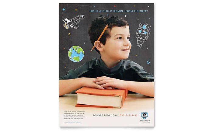 Education Foundation & School Flyer Template Design