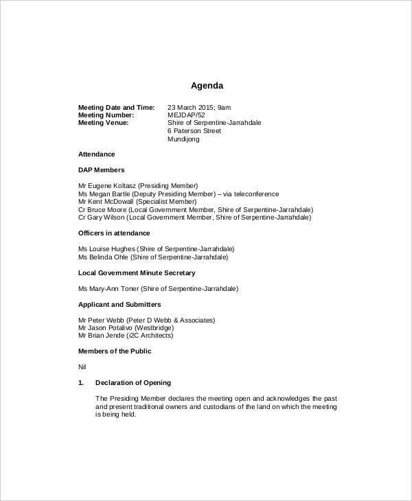 10+ Management Meeting Agenda Templates – Free Sample, Example ...