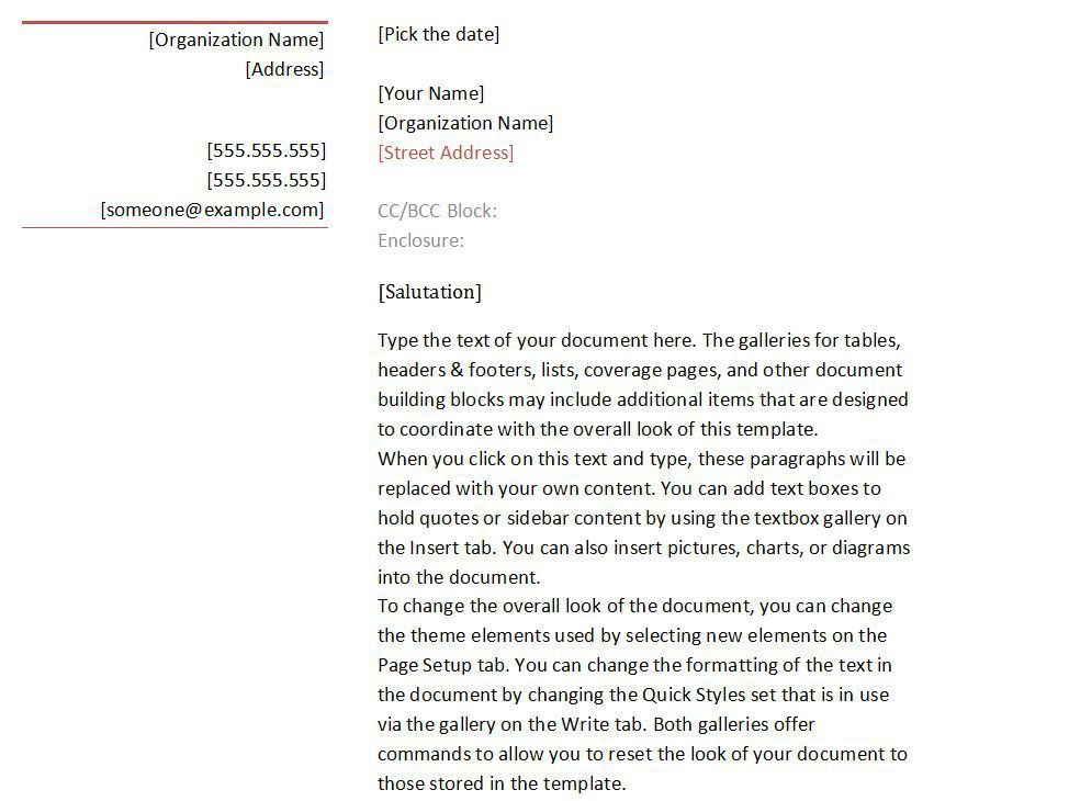 Business Letter Template | Business Letter Templates