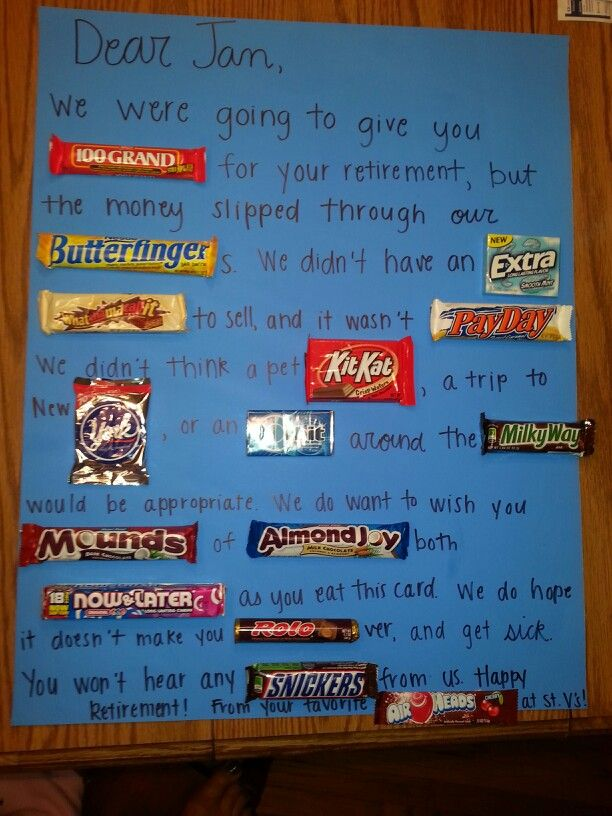 Cute saying made with candy for special occasions on ...