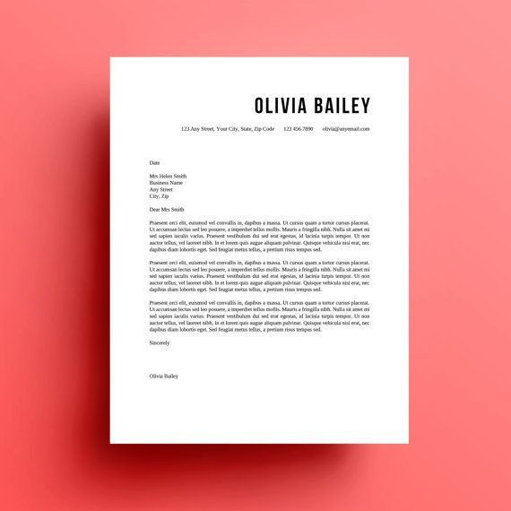 Cover Letter Design - CV Resume Ideas