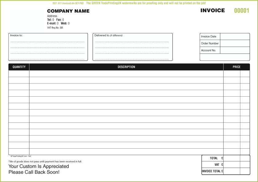 invoice form template