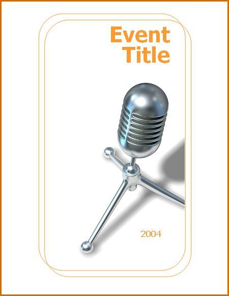 5+ event program templates | Authorizationletters.org