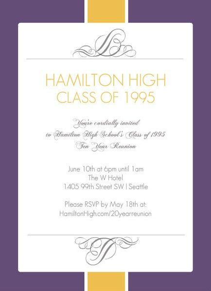 Class Reunion Invitations - Invitation Inspiration