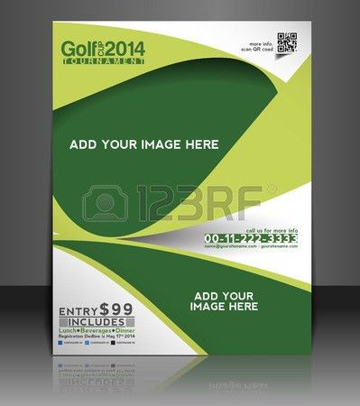 Golf Tournament Flyer & Poster Template Design Royalty Free ...