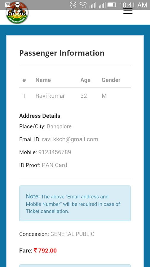 Kerala RTC Bus Ticket Booking - Android Apps on Google Play