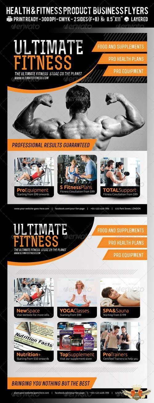 Professional psd flyers for fitness and gym promotions and ...
