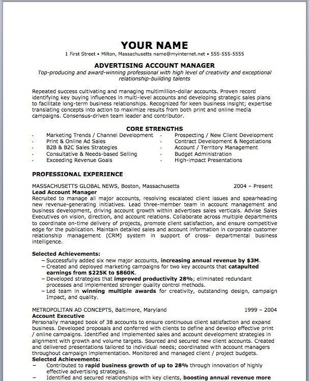 Advertising Marketing Resume Examples | EssayMafia.com
