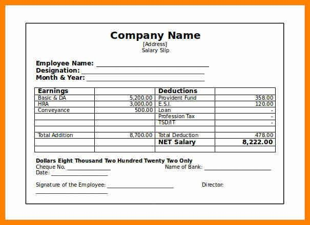 6+ salary slip format india | it cover letter