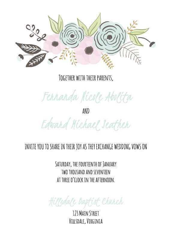 Free Wedding Invitations Templates - reduxsquad.Com