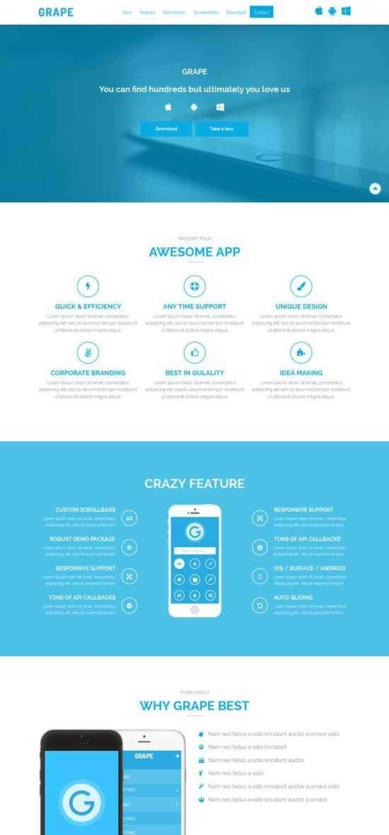 30+ Free Responsive Landing Page Templates 2015