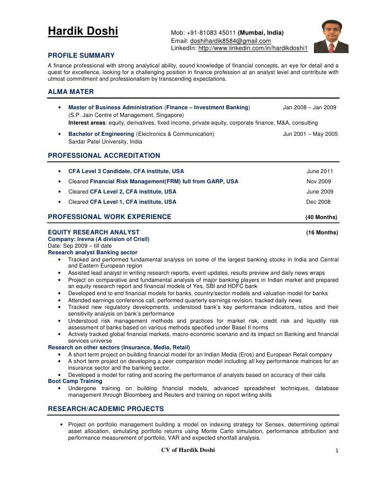 Cognos Resume Sample] Desi Consultancies The United States Sample ...