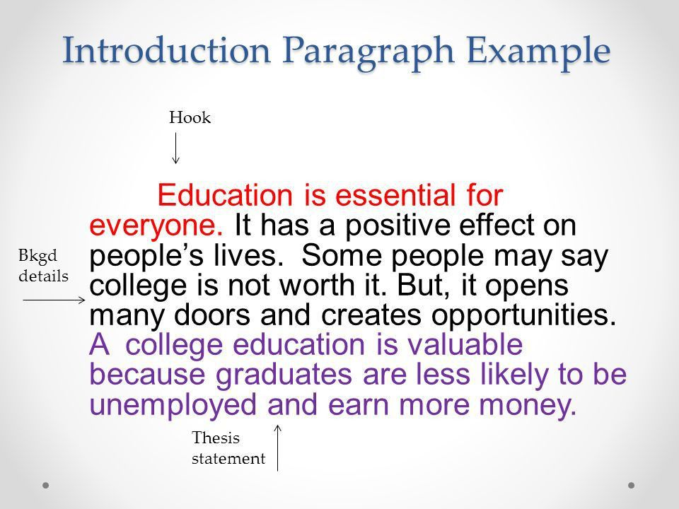 Value of an Education Essay - ppt video online download
