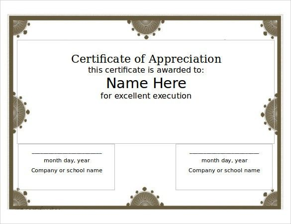 Printable Certificate Template - 13 + Download Free Documents in ...