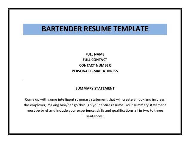 bartender resume sample. bartending resumes examples template ...