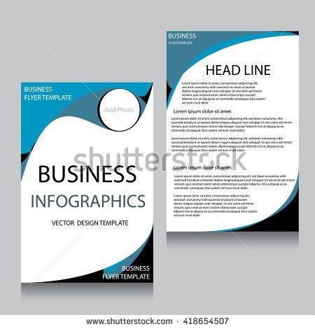 Report Cover Template Business Presentation Brochure Stock Vector ...