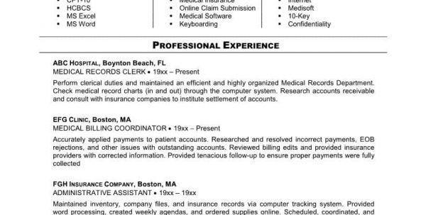 Medical Billing And Coding Resume Sample Medical Billing and ...