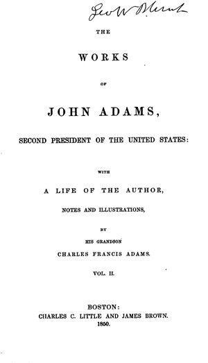 The Works of John Adams, vol. 2 (Diary, Notes of Debates ...