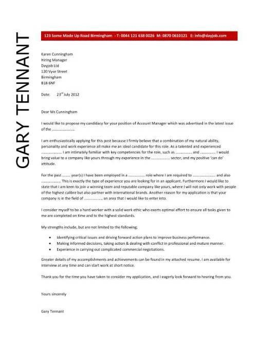 Account Manager Cover Letter Examples - Mediafoxstudio.com