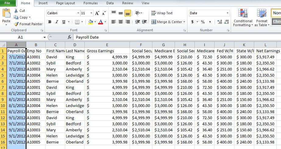 payroll excel sheet - Template