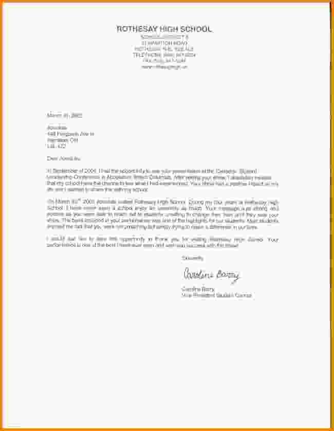 Student Reference Letter. Sample Recommendation Letter ...