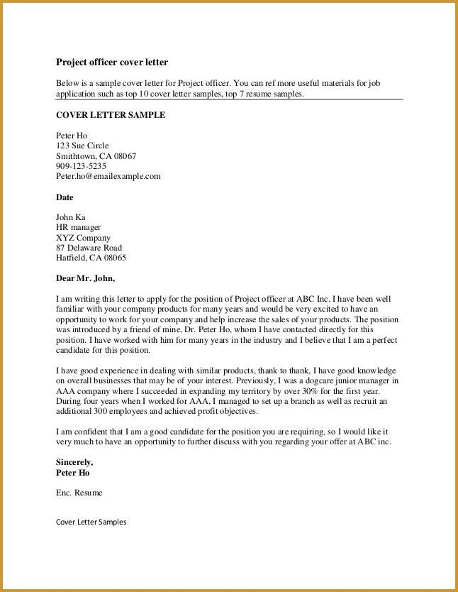 Example Of A Good Cover Letter | eskindria.com