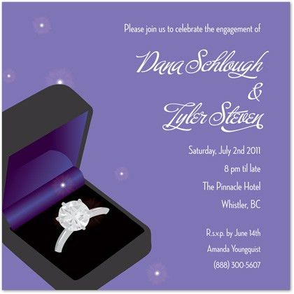 Wedding Engagement Ring Invitations, Engagement Party Invitations
