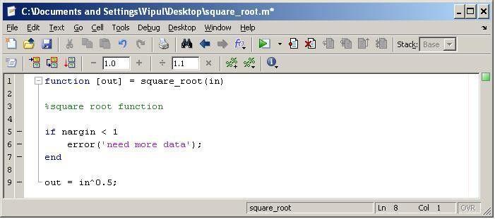 Programming in Matlab | Matlab Geeks