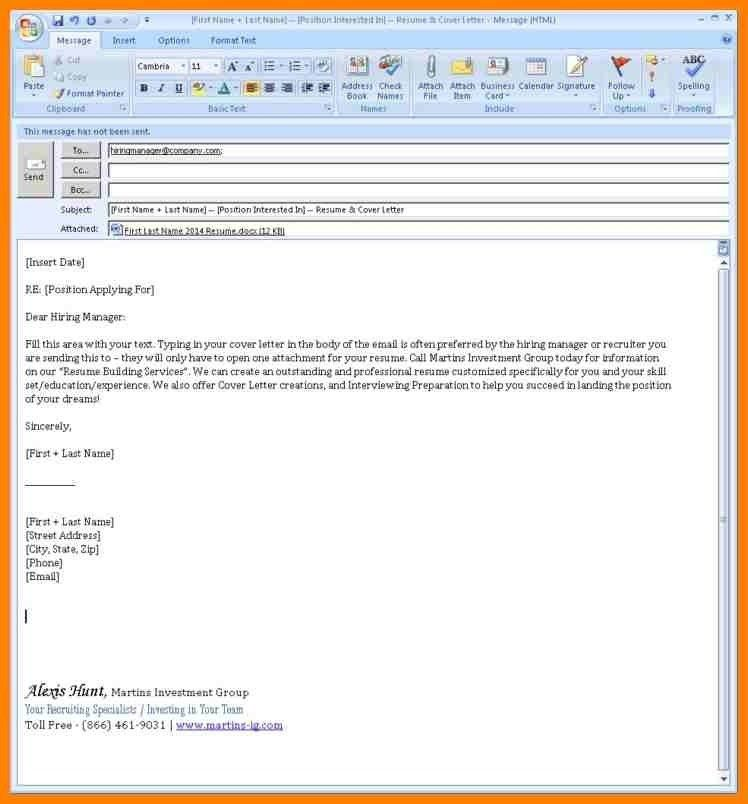When Emailing A Resume, how to write an email that will get you ...