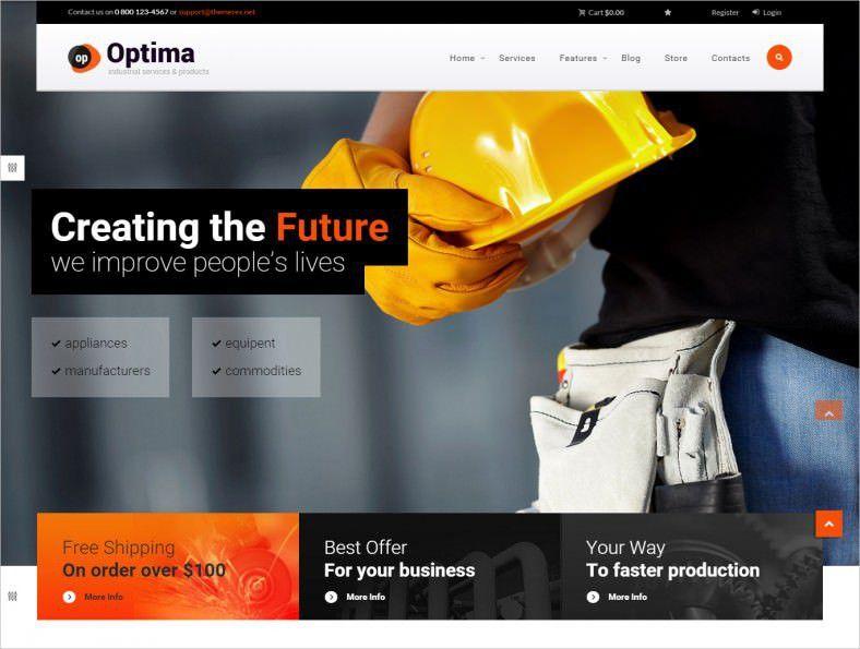 16+ Best Industrial WordPress Templates & Themes | Free & Premium ...