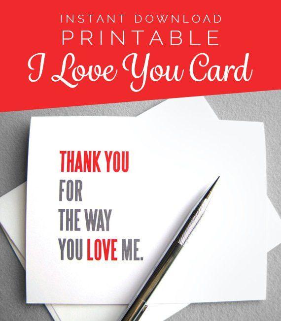 Printable Anniversary Card. Love Card. Valentine Card. Instant