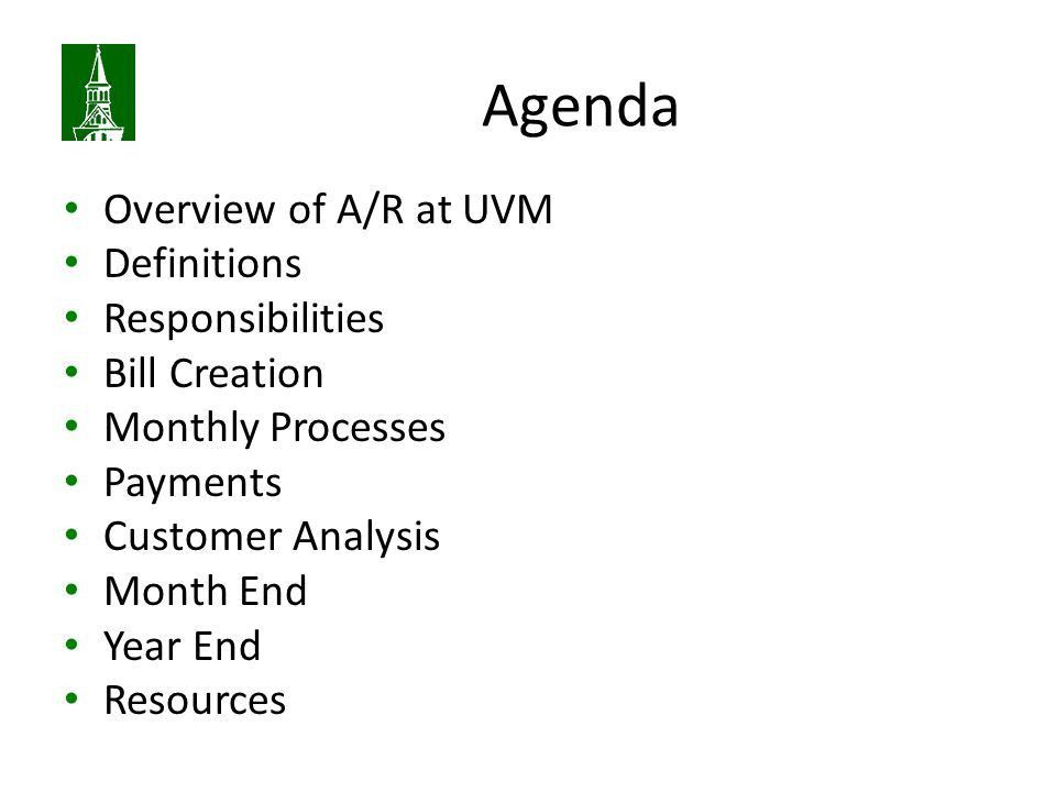 Billing And Accounts Receivable - non-sponsored. Agenda Overview ...