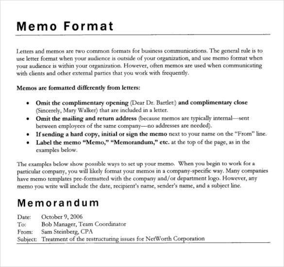 Formal Memorandum Template– 8+ Free Word, Excel,PDF Documents ...