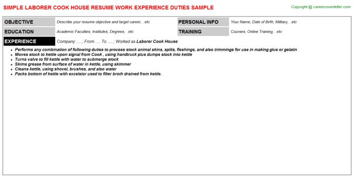 House Parent Resumes Samples