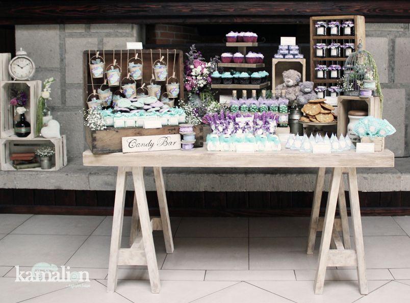 Mesa de dulces candy bar postres for Mesas de madera bar