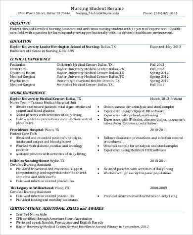 patient care assistant resume skills certified nursing assistant ...