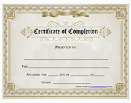 Top 5 Free Certificate of Completion Templates - Word Templates ...