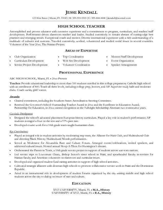 English Teacher Resume Objective