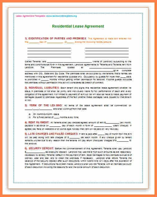 5+ microsoft word lease agreement template | Purchase Agreement Group