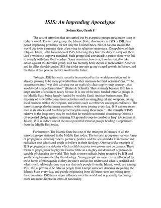 Isis argumentative essay by Smita - issuu