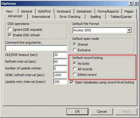 Microsoft Access Multi-User Applications – Record Locking ...