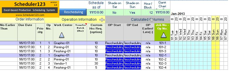 Generate Daily Production Schedule Report Template Excel | Visual ...