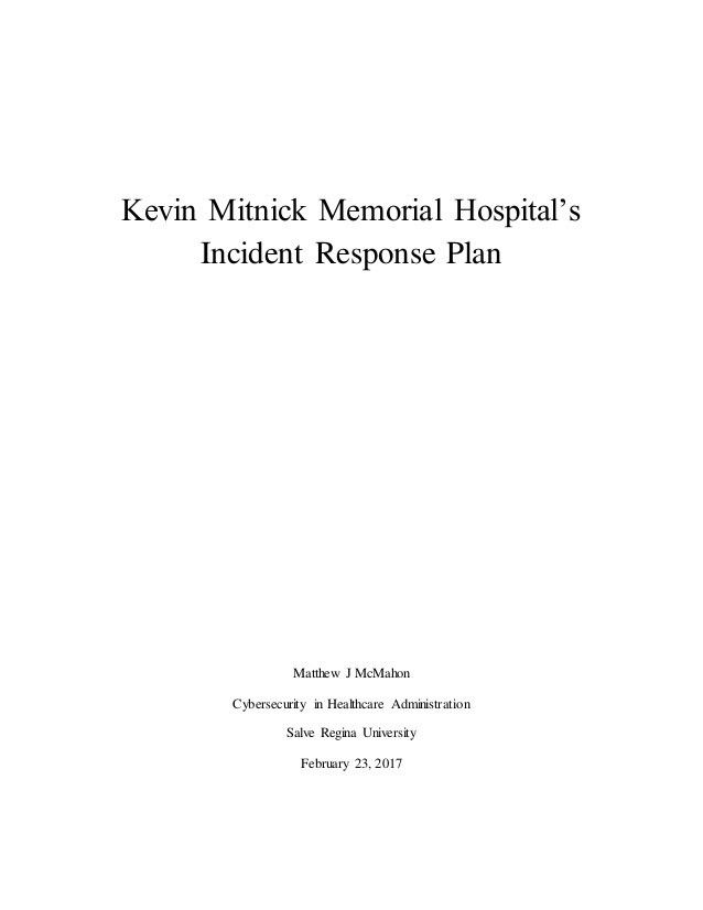 Sample Incident Response Plan
