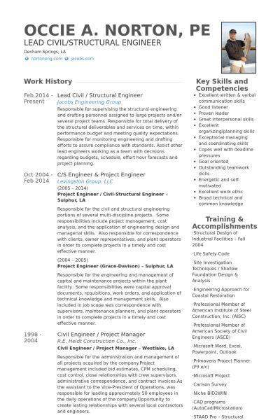 Structural Engineer Resume samples - VisualCV resume samples database