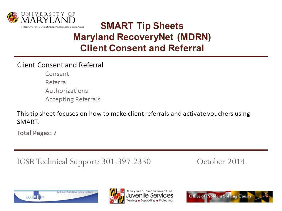 This tip sheet focuses on how to make client referrals and ...