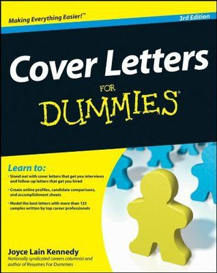 Cover Letters for Dummies by Joyce Lain Kennedy
